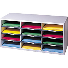 Fellowes 12-Compartment Sorter Literature Organizer