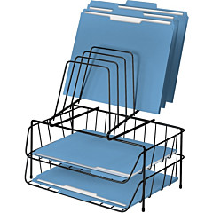 Fellowes Step File Wire Double Tray