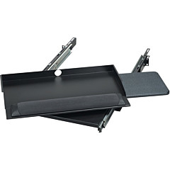 """Black Box RM385 19"""" Sliding Pivoting Keyboard Tray with Mouse Tray"""