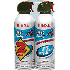 Maxell Blast Away Canned Air 152a Formula 2 Pk (CA-4)
