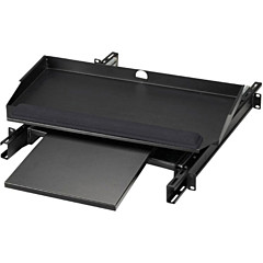 """Black Box RMT387 19"""" Sliding Pivoting Keyboard Tray with Front Mouse Tray"""