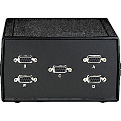 Black Box DB9 Switch, ABCDE (4 to 1), Chassis Style A, (5) Male