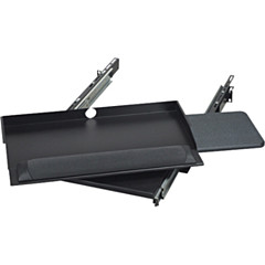 """Black Box RMT385 19"""" Sliding Pivoting Keyboard Tray with Side Mouse Tray"""