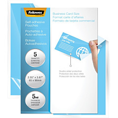Fellowes Self-Adhesive Pouches - ID Tag, 5mil, 5 Pack