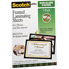 Scotch Laminating Sheets LS854-5G, Gloss Finish