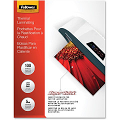 Fellowes SuperQuick Glossy Laminating Pouches