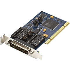 Black Box Low-Profile PCI Card, 16850 UART, Dual-Port, RS-232/422/485