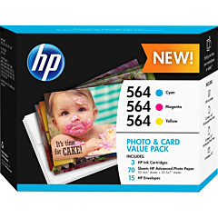HP 564 Photo and Card Value Pack