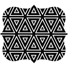 Fellowes Designer Mouse Pad - Geometric Triangles