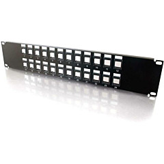 C2G 24 port Blank Keystone/Multimedia Patch Panel