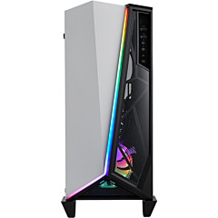 Corsair Carbide Series SPEC-OMEGA RGB Mid-Tower Tempered Glass Gaming Case - White