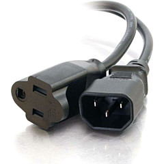 C2G 15ft 18 AWG Monitor Power Adapter Cord (IEC320C14 to NEMA 5-15R)