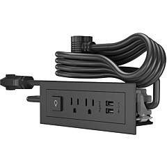 Wiremold Wiremold Radiant Furniture Power Center Basic Switching Unit 10' Cord Black