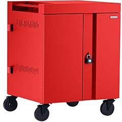Bretford CUBE Cart 36, AC Charging, Red Paint