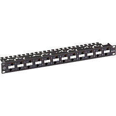 Black Box CAT6A Patch Panel, 24-Ports, Component Level 110, 1U, PoE+