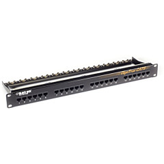 Black Box GigaTrue CAT6 Patch Panel - 1U, Unshielded, 24-Port