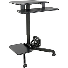 Tripp Lite Rolling Desk TV/Monitor Cart - Height Adjustable