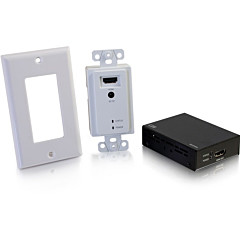 C2G HDMI Extender Over Cat5/Cat6 Wall Plate to Box Kit up to 164ft (50m)