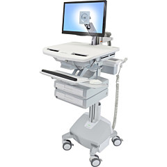 Ergotron StyleView Cart with LCD Arm, LiFe Powered, 2 Drawers