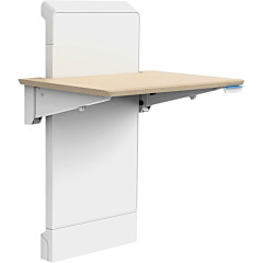 Ergotron WorkFit Elevate (mendota maple) Sit-Stand Wall Desk