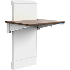 Ergotron WorkFit Elevate (walnut hills) Sit-Stand Wall Desk