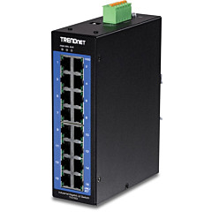 TRENDnet 16-Port Industrial Gigabit L2 Managed DIN-Rail Switch