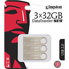 Kingston 16GB USB 2.0 DataTraveler SE9 (Metal casing) (3 Pack))
